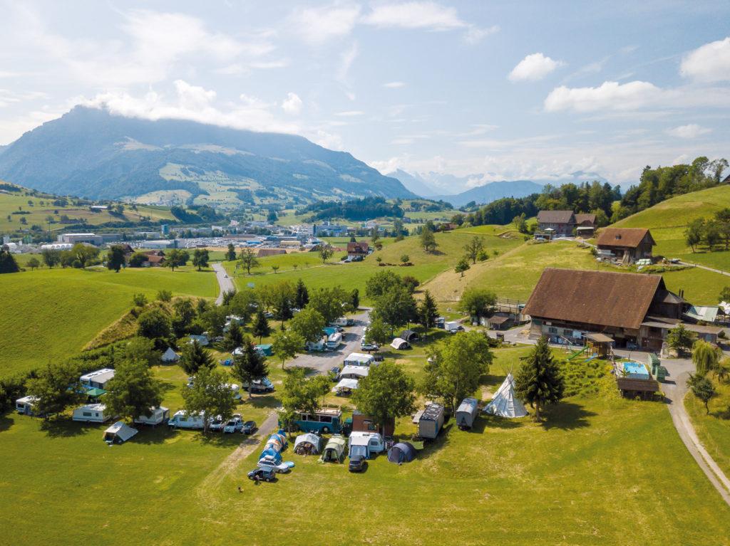 Erlebnis Bauernhof Camping Gerbe Meierskappel Schweiz